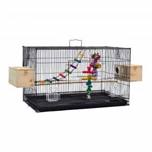Black wholesale big fancy large parrot bird breeding cages