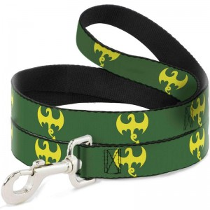 DOG SH-IRON FIST DRAGON LOGO GREEN/YELLOW