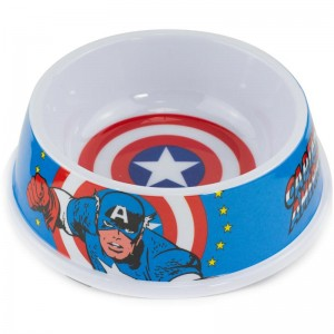 SINGLE MELAMINE PET ZDJELA-7.5 (160ž) AMERICA SHIELD + Captain America AKCIJA POSE BLUE RED WHITE
