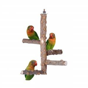 Shinee natural bird cage perches bird wood stand toys