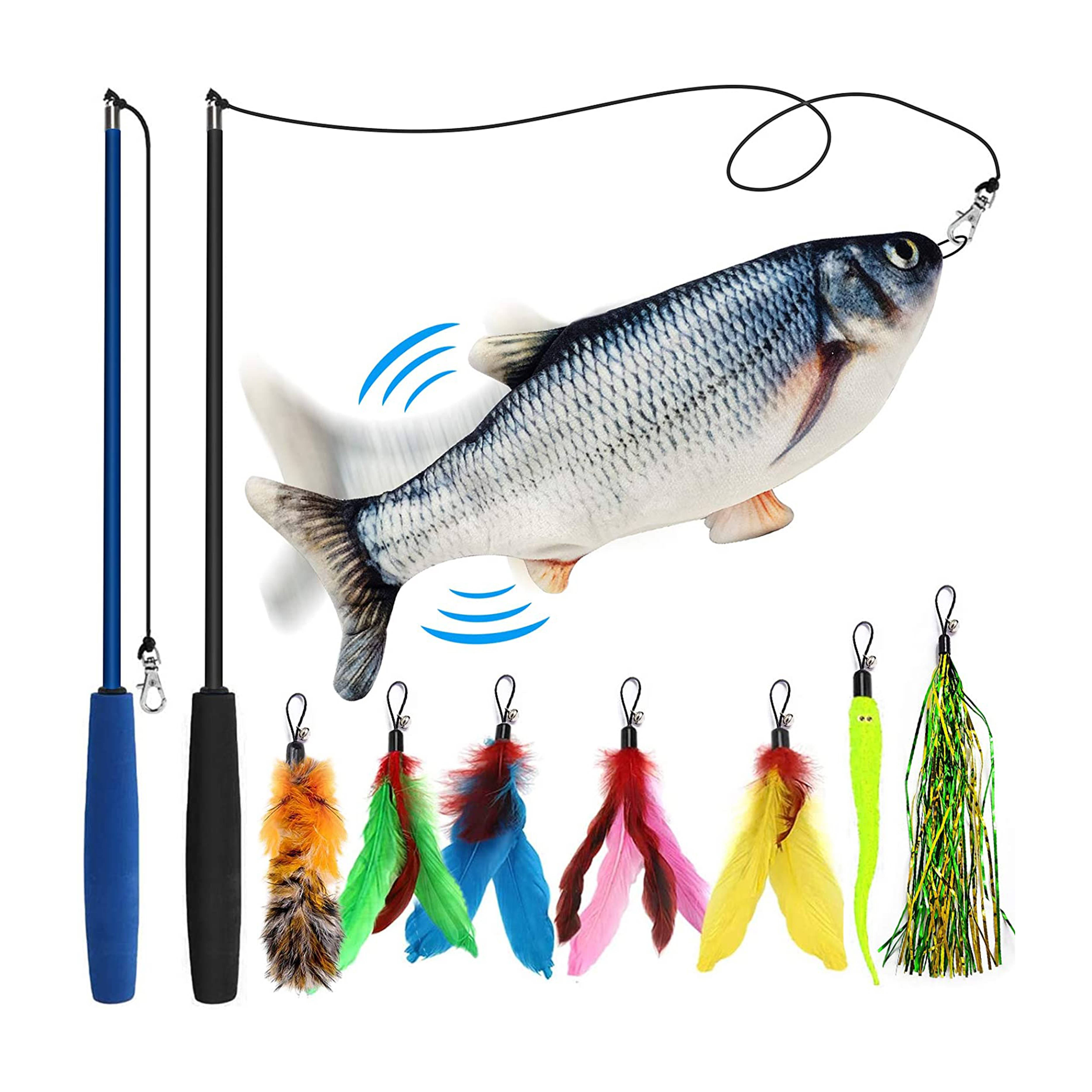 Interactive Cotton electric waggling cat toy moving fish Featured Image
