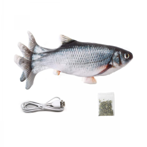 Shinee electronic interactive usb moving fish shaped for cat toy