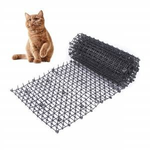 Plastic black Repellents cat animal defence scat spike mat for cats