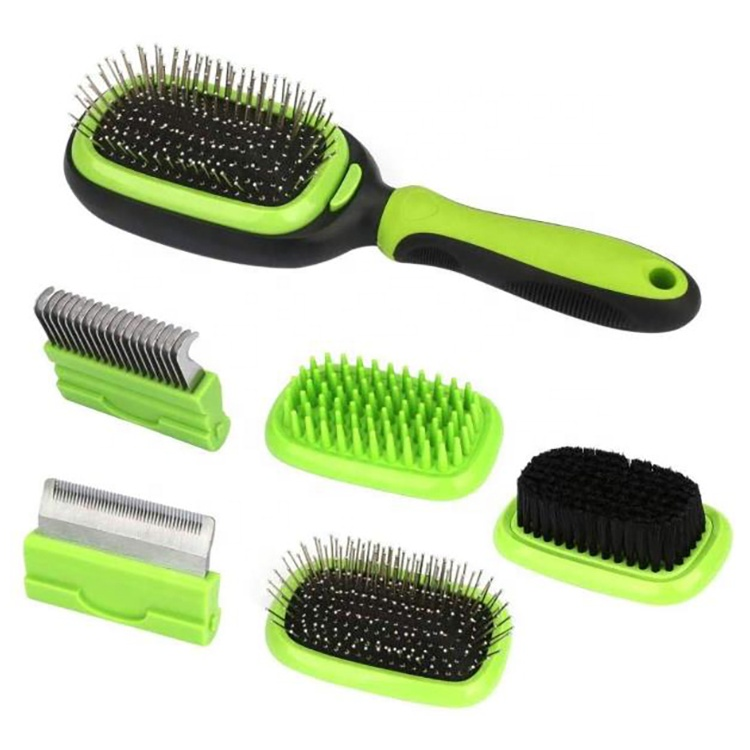 2019 Good Quality Dog Grooming Kit - 5 in 1 Pet Grooming Kit Brush Pet Massage Dog Deshedding Tool Dematting Comb Brush for Dogs and Cats – J & E