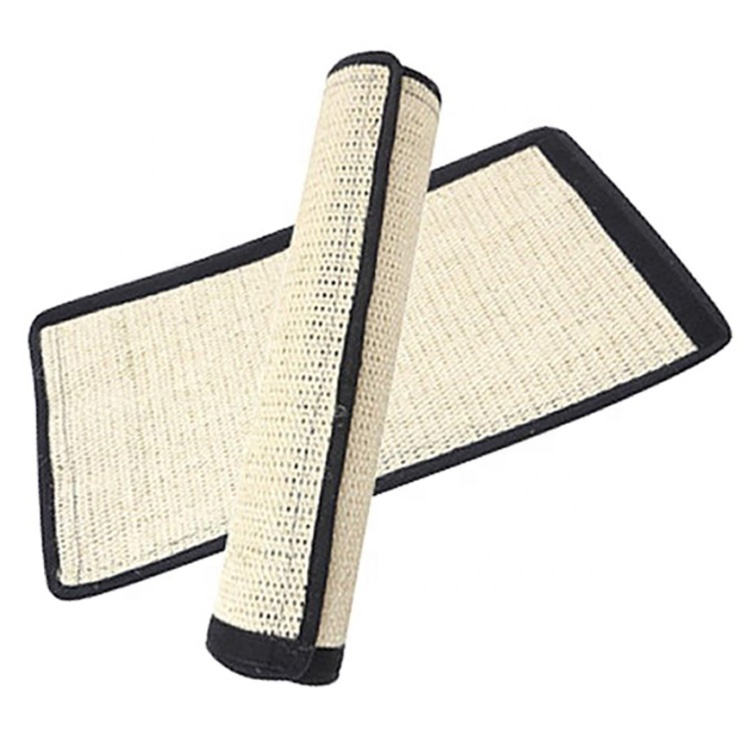 Cat Toys Furniture Protection Cat họ paadi Natural Sisal Cat Scratcher Mat Fun murasilẹ ayika Safa Table Alaga Couch