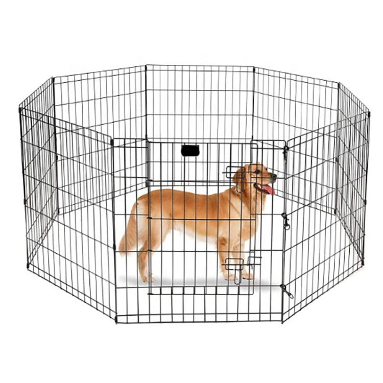 Portable 8 Panels Folding Metal Wire Pet Enclosure Puppy Fence Dog Playpen