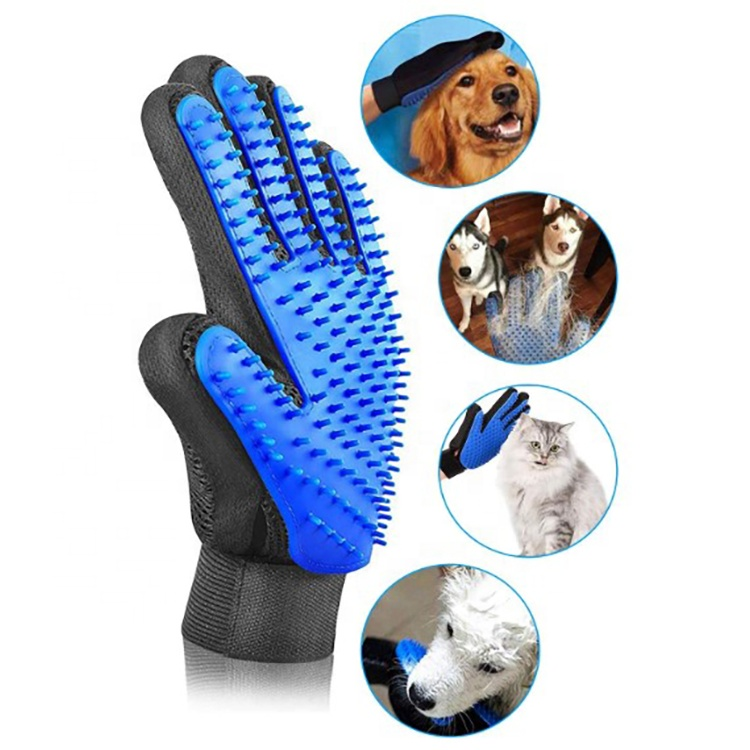 Deshedding Efficient Pet Massage Gloves Left Right Pet Fur Hair Remover Pet Grooming Glove Hair Remover Brush