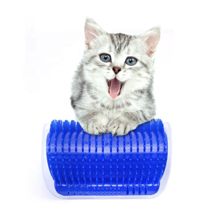 RTS Pet Products Cat Brush Comb Wall Corner Massage Grooming Toy Tool Pet Cat Self Grooming With Catnip
