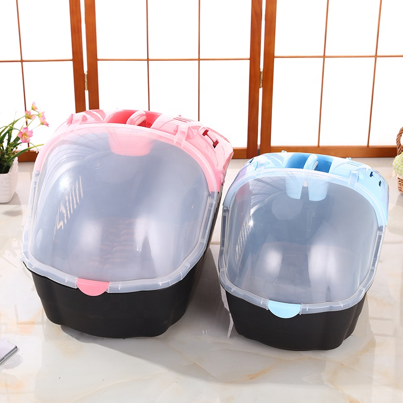 New Design Portable Plastic Transport Box Pet Dog Cage Air Travel Koer Carrier Mat