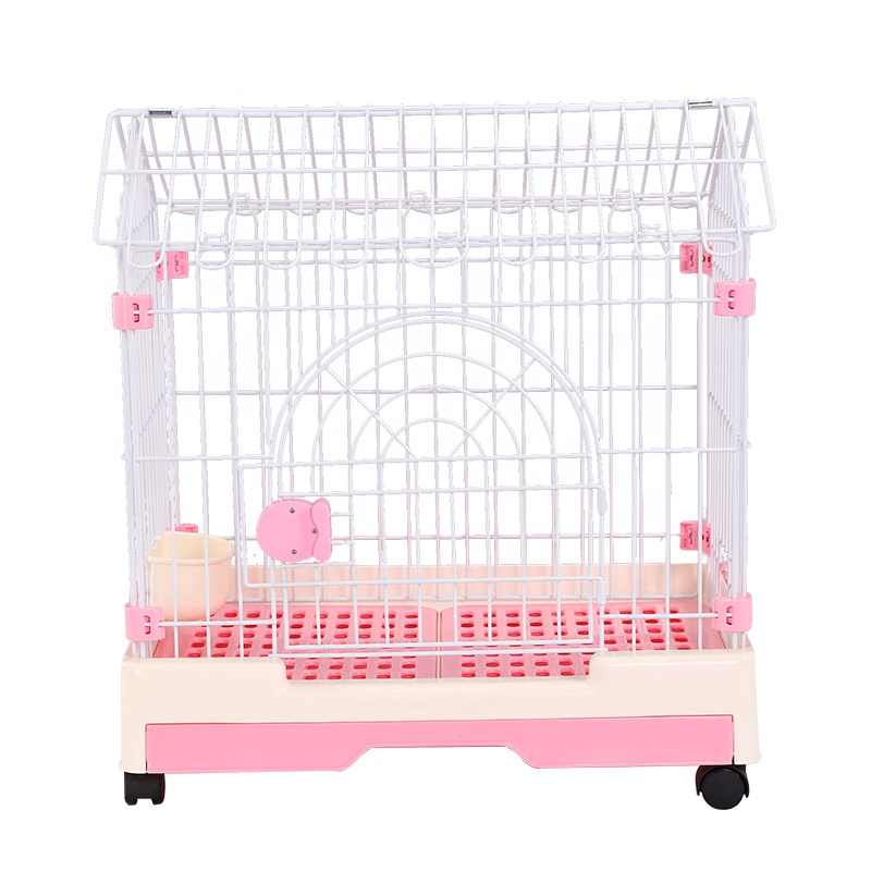 Single Door Metal Wire Dog Cage Crate Small Puppy Pet Deluxe Pet Dog Crate