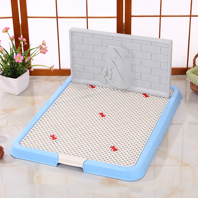 Hot Sale Puppy Dog Training Pet Toilet Pee Pads Tray Dog Toilet Sheet With Plastic Wall