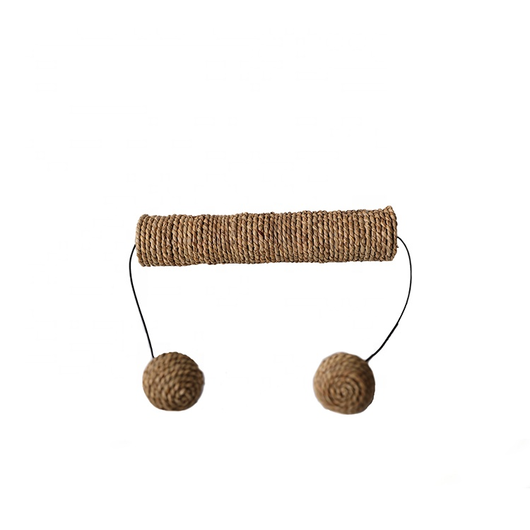 Wholesale Pet Products Cat menggaru Post Sisal Cat Scratcher Toy Dengan Sisal Ball