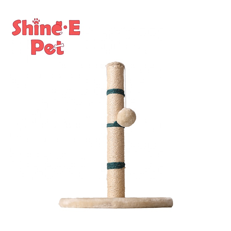 Wholesale cat tree climbing toys sisal cloth cat scratch pole pet furniture cat scratch post