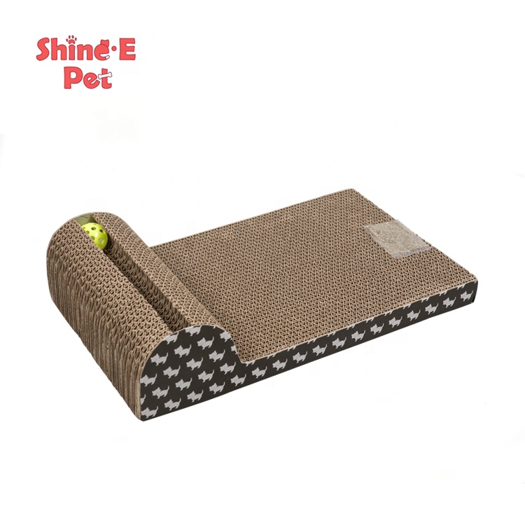 Pet Products Cat Scratcher Scratching Pads with Catnip,Cat Scratch Board With Ball Toy