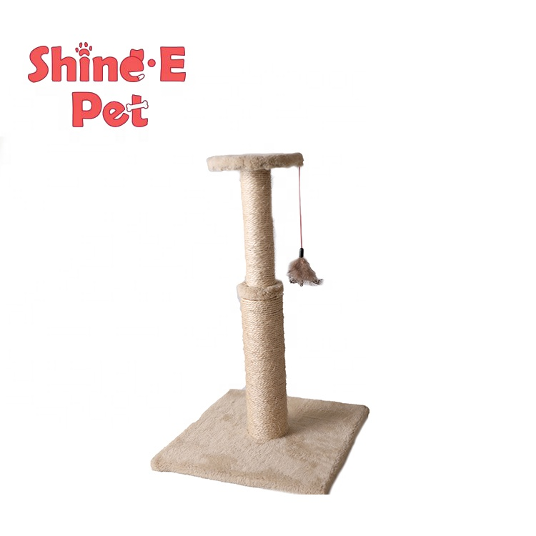 Wholesale elastic sisal scratch post wall corner cat tree scratching cat post Featured Image