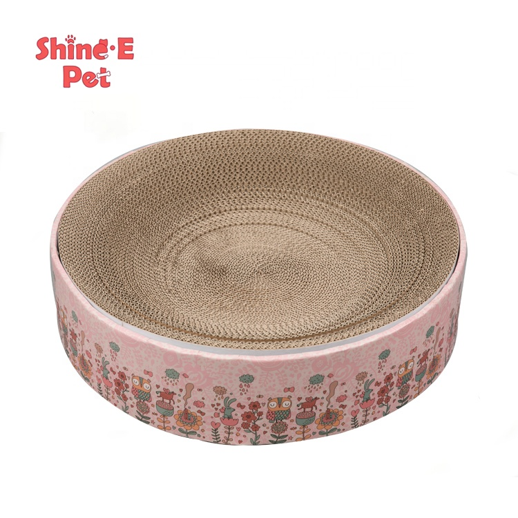 Pet product cat sleeping bed toy bowl-shaped cat scratcher lounge bed cat scratcher cardboard