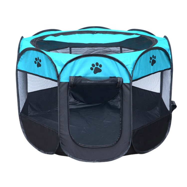 Custom Logo Foldable 8 Panels Travel Pet Exercise Kennel Dog Playpen Portable Pet Playpen For Indoor&Outdoor