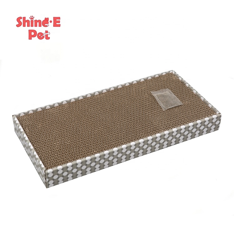 Amazon Hot Sale Cat Toy Corrugate Scratching Board Pad Kitty Cat Scratcher Cardboard With Catnip