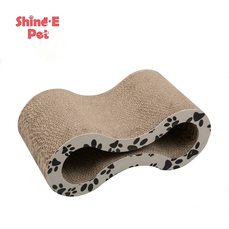 Eko-dost Cat Scratch Toy Cat Scratcher Lounge karton Toy Oluklu Cat Daraqlı Post