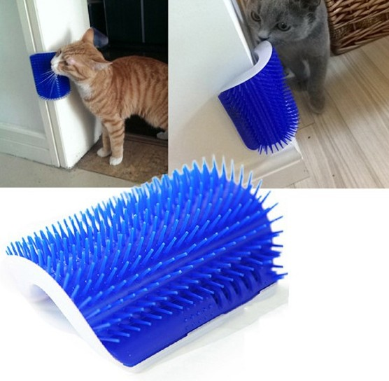 China wholesale Pet Cleaning & Grooming Products - Wall corner stick pet brush massage for pets grooming comb best price – J & E