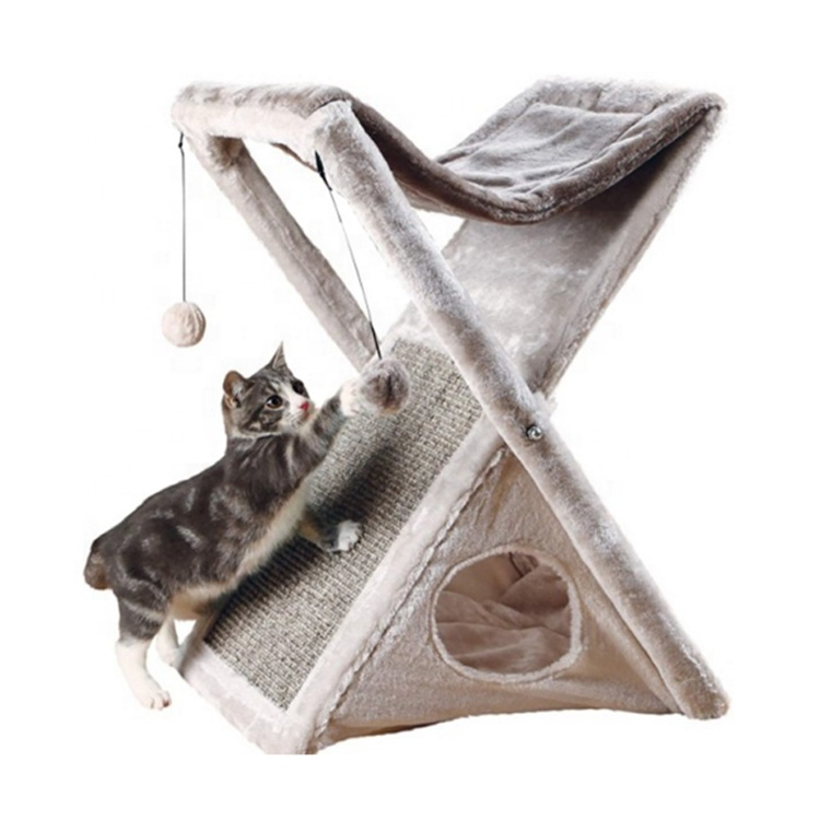 Išoogun osunwon foldable Cat Tower apingbe Cat Tree họ Post Cat Toys