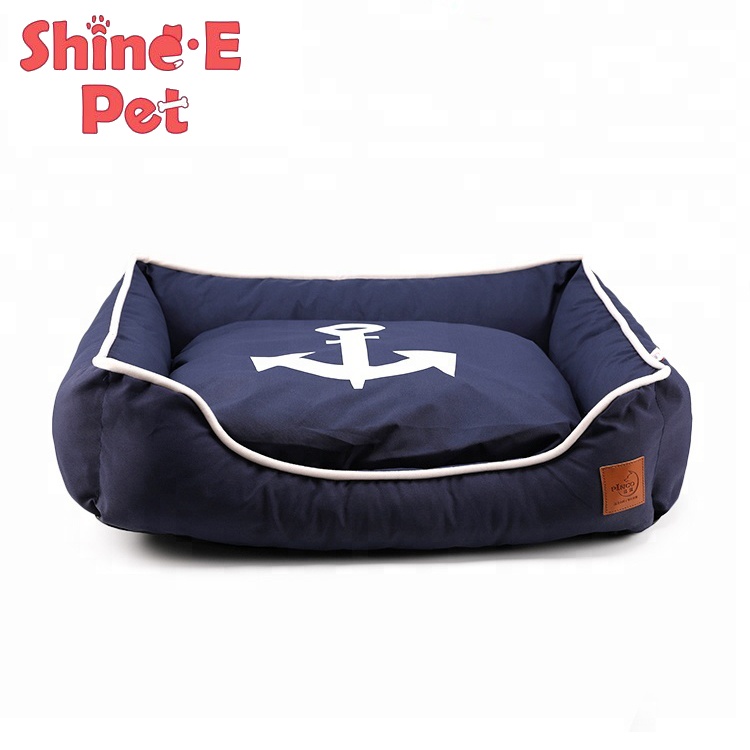Custom Wholesale Canvas + PP cotton Dog Bed