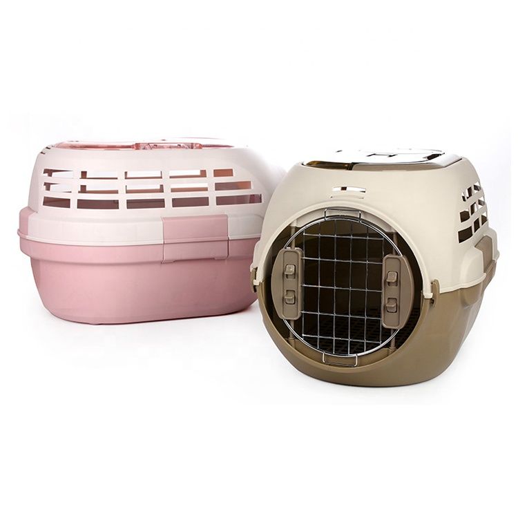 Factory supply pet carrier airline approved pet transport box cat cage dog travel carrier