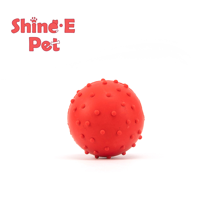 Hot-selling Cat Toy Balls - Pet Dog Toy Rubber Spikey Ball with bell – J & E