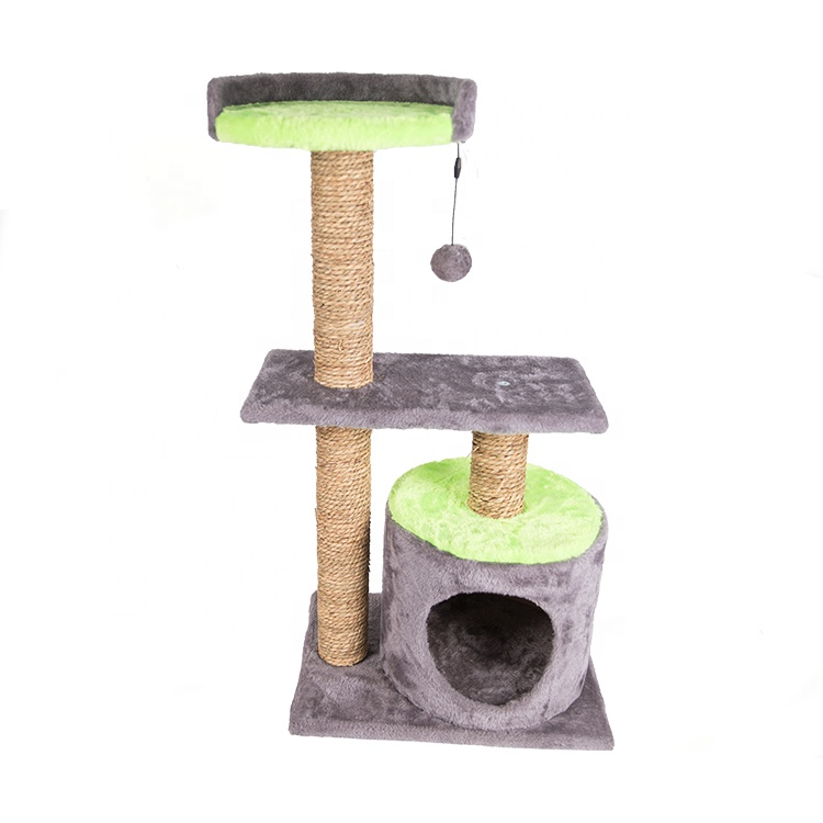 China Factory Supplier Cat Mainan Pet Condo Tower Cat Mewah Climbing Tree House