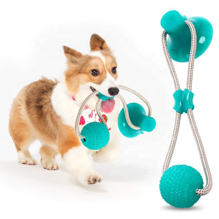 Manufacture OEM Wholesale Pet Molar Bite Toys for Dog Chew Toys TPR Cotton Rope Toys