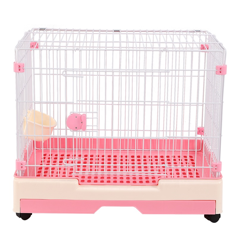 Pet Folding Dog Playpen Commercial Custom Plastic Dog Cage Kennel Small Dog Pen Cage Puppy House With Wheels
