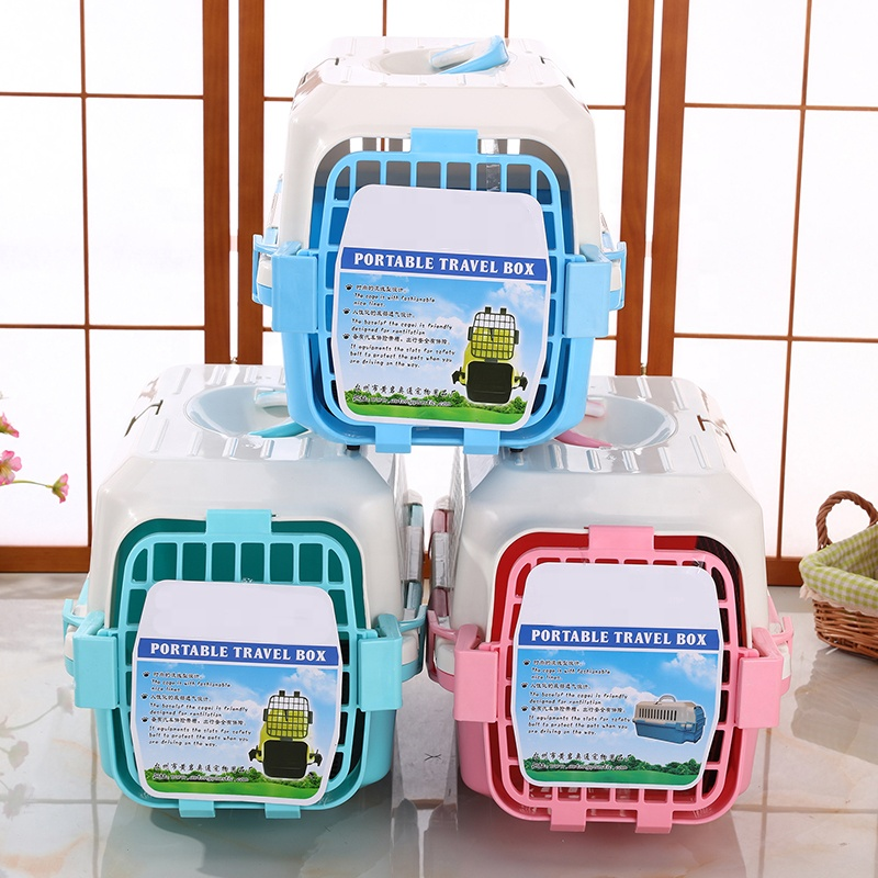 PP Plastic Pet Carrier Airline Approved Transport Single-Door Top-Load Pet Dog Kennel