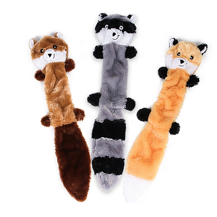 3 Pack Dog Squeaky Toys No Stuffing Squeaky Plush Dog Toys for Dog Pets