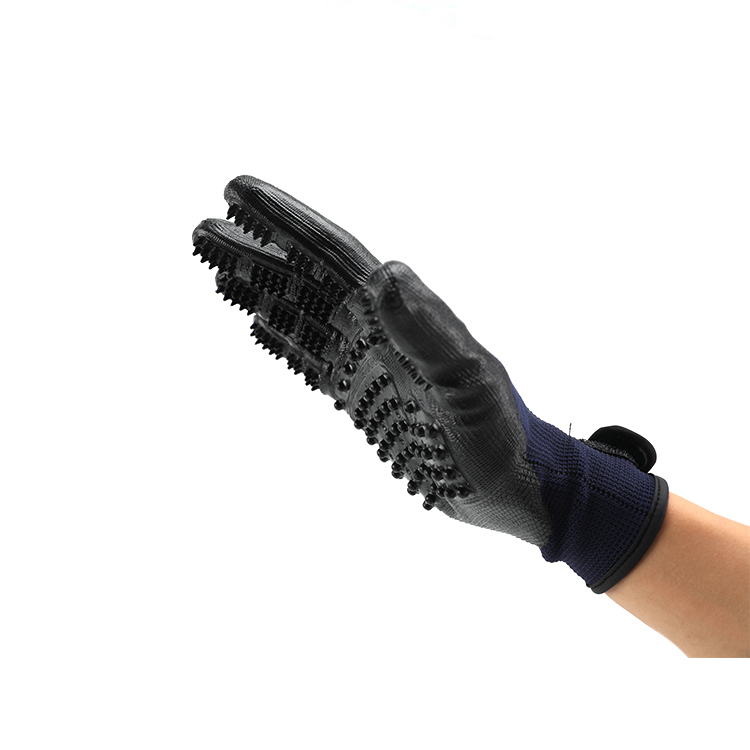 Dog Cat Cleaning Silicone Massage Hair Five Finger Gloves