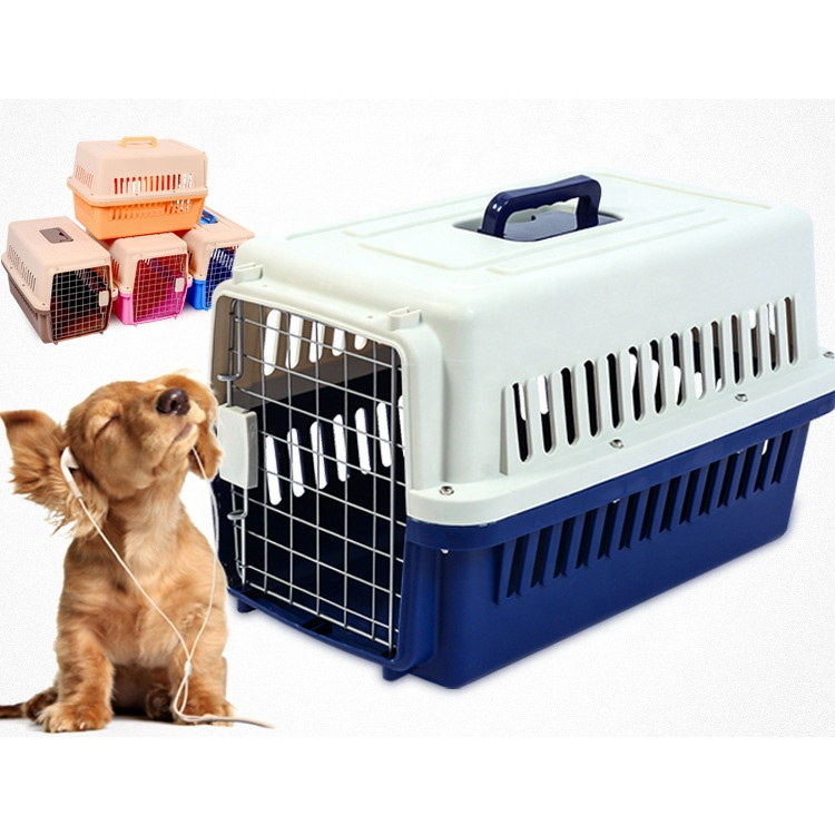 Multi-size Pet Reise Carrier Aircraft Crate Cat Dog Reise Box, Airline Pet Carrier med hjul