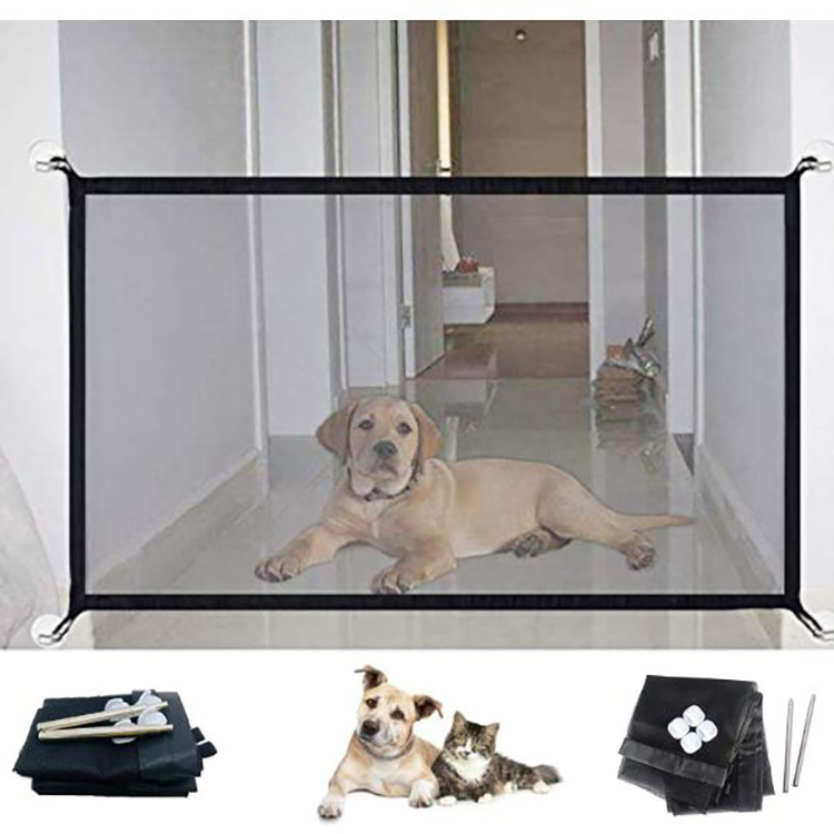 Portable Folding Safety Enclosure Fence Guard Mesh Pet Magic Gate Mesh Dog Safety Gate