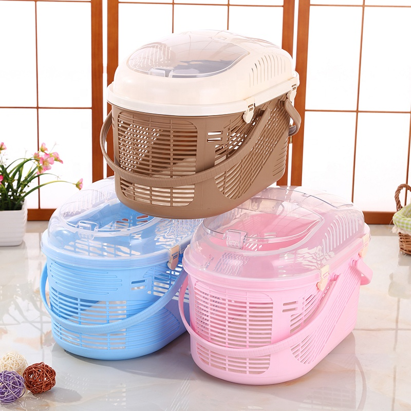 Hot Sale Portable Plastic Dog Cage Kennel Pet Dog Reise Carrier Cage For Pet Dog Utgående