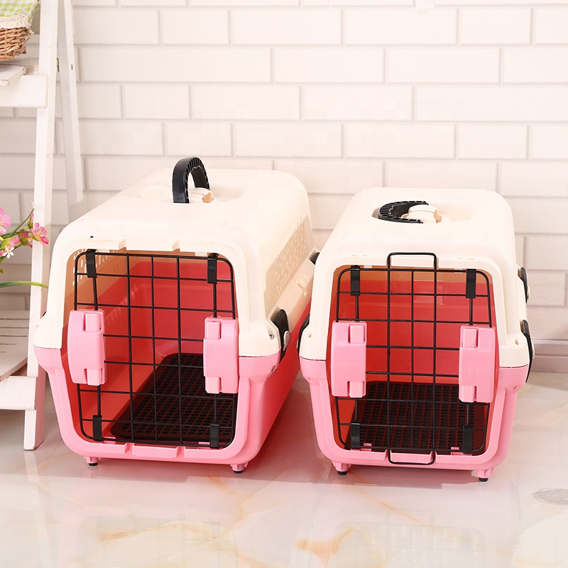 Engros PP kjæledyr bur Cat Carrier Houses Reising hund katt Cage Pet Carrier