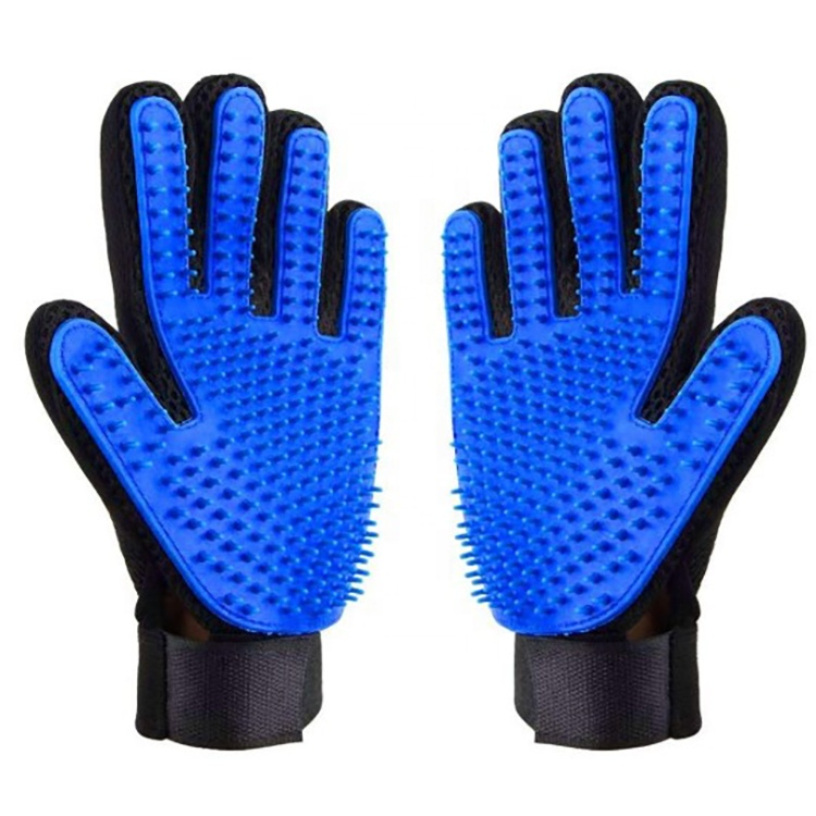 Deshedding Efficient Pet Massage Gloves Left Right Pet Fur Hair Remover Pet Grooming Glove Hair Remover Brush Featured Image