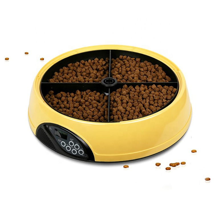 Intelligente 8's Voice Recording 4 Etes outomatiese Pet Feeder Pet Dry Food Container Dog Smart Feeder
