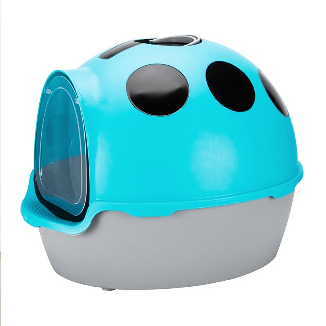 Ladybug large oversized  fully enclosed splash-proof cat  litter box toliet