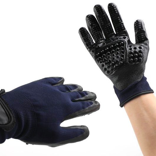 Hot sale Grooming Kit Pet - Black Massage Mitt Pet Grooming Glove Pet Hair Removal Gloves Brush Pet Bath Grooming Glove – J & E