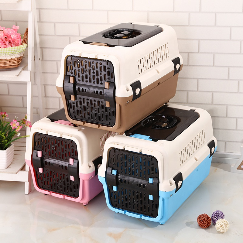 Høy kvalitet Airline Godkjent Pink Pet Carrier Outdoor Portable Pet Reiser Dog Carrier for små kjæledyr