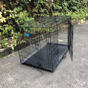 Black or blue or red iron large pet dog cages metal kennels for sale dogs
