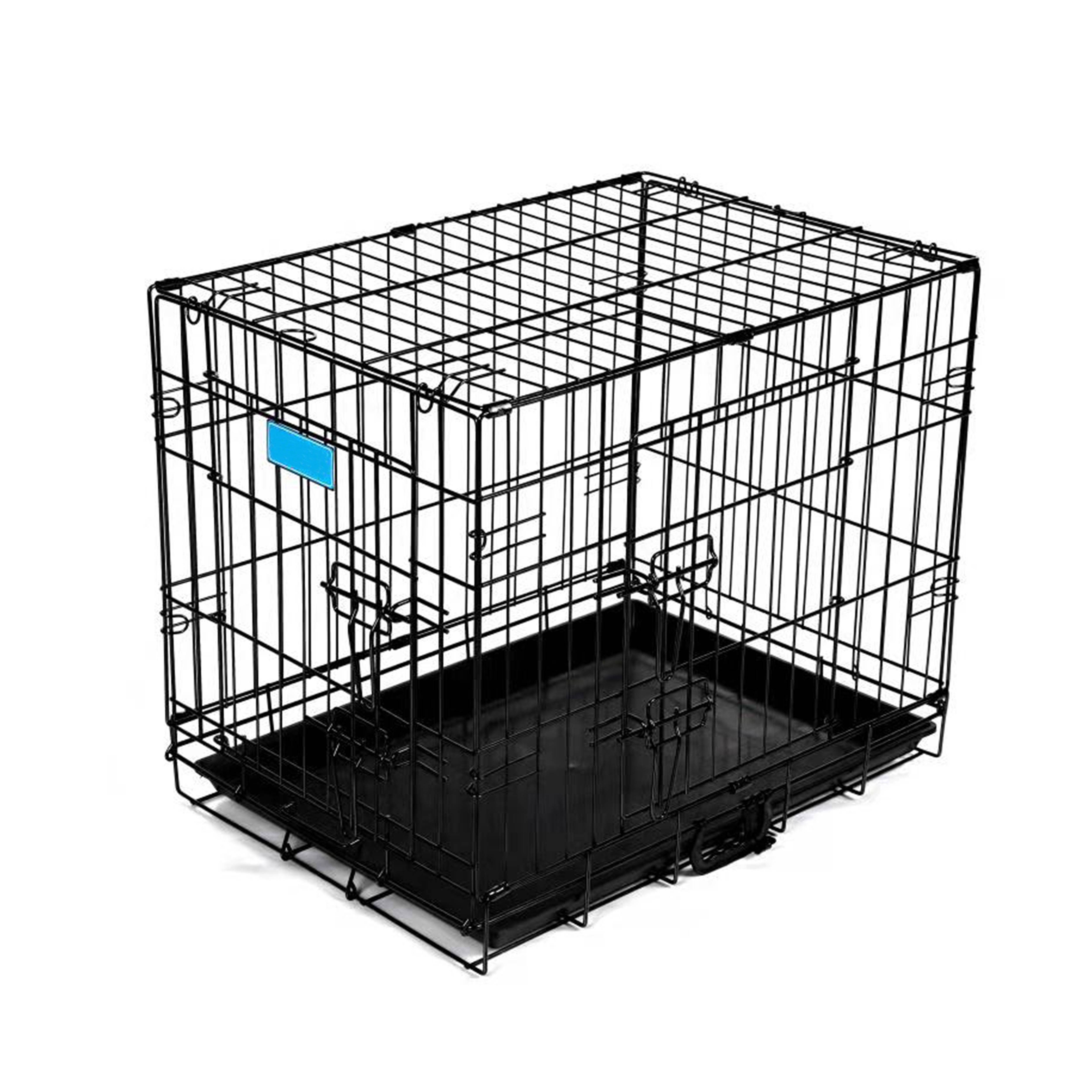 Black or blue or red iron large pet dog cages metal kennels for sale dogs Featured Image