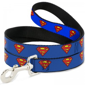 China OEM Pet Feeder Bowl - DOG LEASH- SUPERMAN SHIELD BLUE – J & E