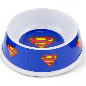 SINGLE MELAMINE PET ZDJELA-7.5 (160ž) -SUPERMAN SHIELD BLUE