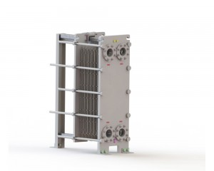 Plate Heat Exchanger with studded nozzle