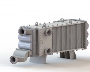 Wide Gap Welded Plate Heat Exchanger used in alumina industry