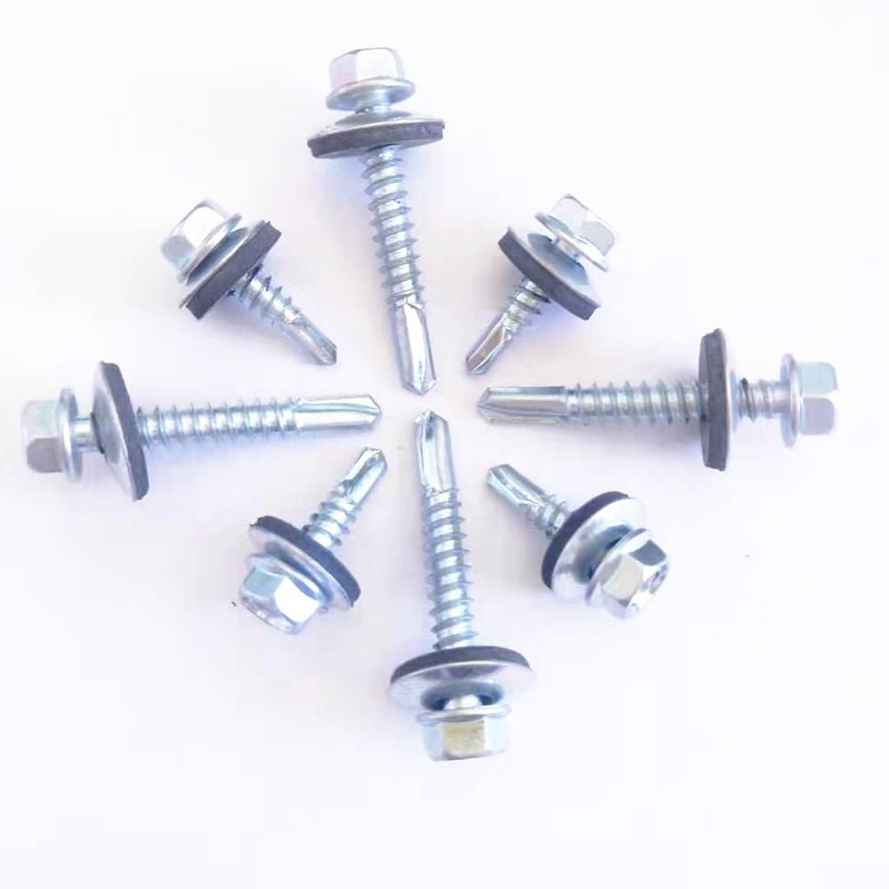 Roblox Hex Head Factory For Nails For Roofing Sheet Epdm Washer Zinc Plated Din7504 Hex Head Patta Self Drilling Screws Shuangzi Factory And Suppliers Shuangzi